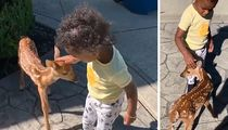 Jarvis Landry's Daughter Befriends Baby Deer In Most Adorable Video Ever