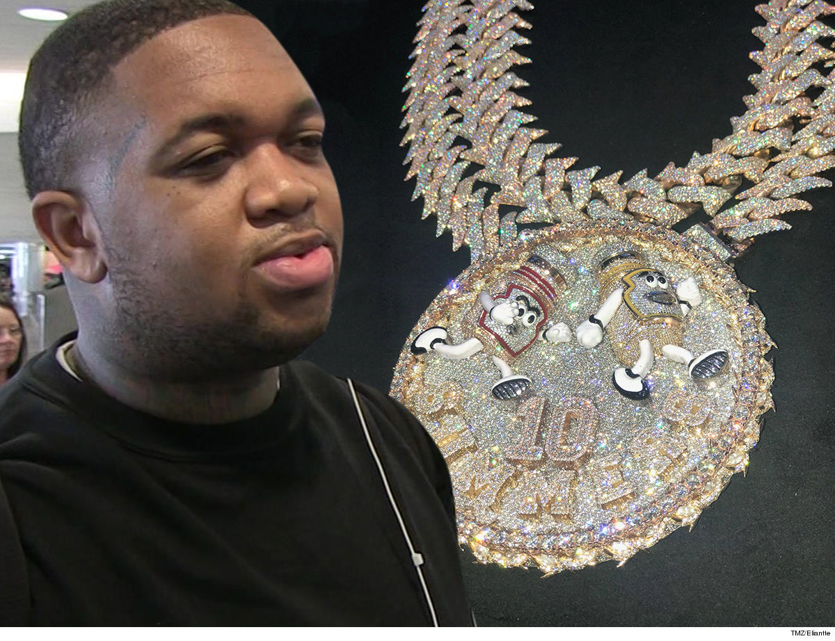 DJ Mustard Ketchup & Get On My Level With $650k Chain!!!