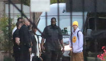 Justin Bieber's Limo Van in Hollywood Accident