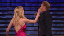 Sophie Turner Slaps the Hell Outta Conan O'Brien in Drinking Game