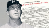 Mickey Mantle 1957 Yankees Contract Hits Auction Block, He Only Made $60K!