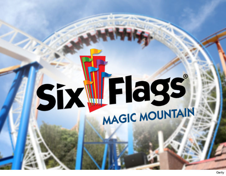 5ea3aa9d411 Guests who went to Six Flags in Southern California on Sunday were met with  flames and smoke as a wildfire erupted right next door ... and they were ...