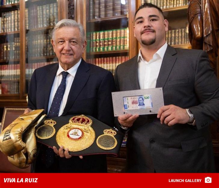 Boxing Champ Andy Ruiz Jr Meets President of Mexico