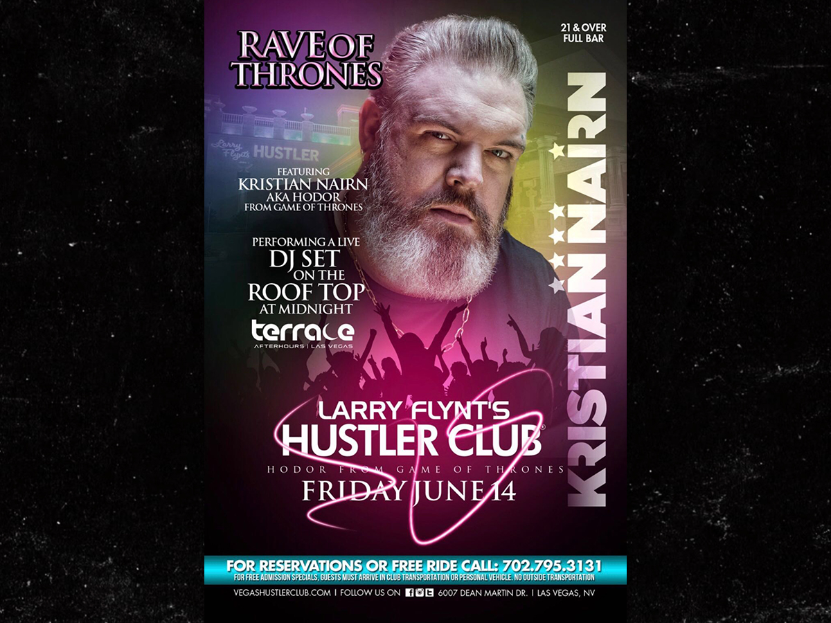Hodor from 'Game of Thrones' Man of Few Words During DJ Set ... Let the Music Do the Talkin'
