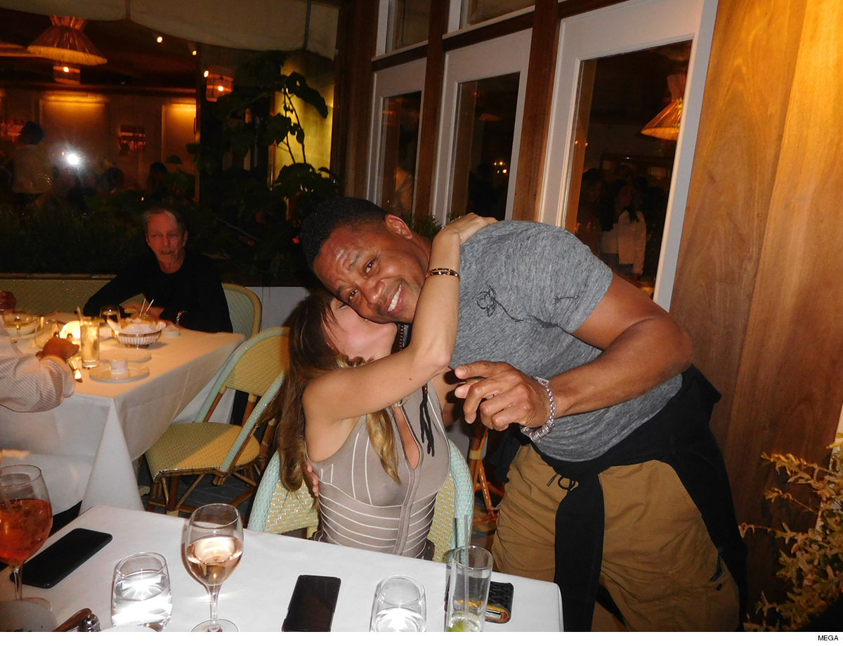 Cuba Gooding Jr. Hugs and Kisses From Daughter of His Lawyer