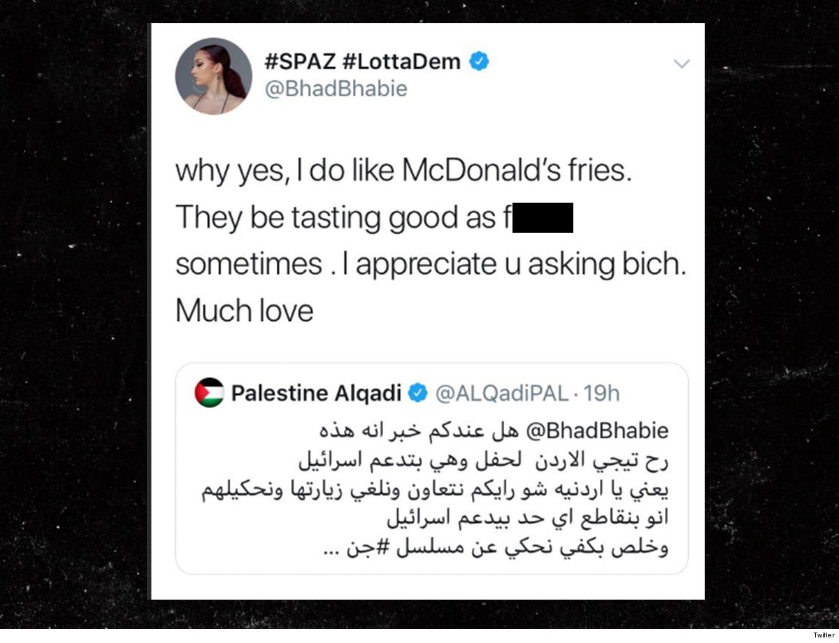 7c61c9c8bc4 As we first reported ... a verified account tweeted at her in a bunch of  Arabic text. Bregoli playfully replied with a little sass saying,