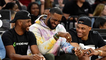 LeBron, Russell Westbrook and Chris Paul Take In WNBA Game Pre-Trade