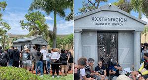 XXXTentacion Fans Flood to Gravesite on 1-Year Anniversary of His Death