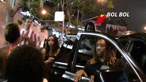 Bol Bol Leaves Club With Female Entourage