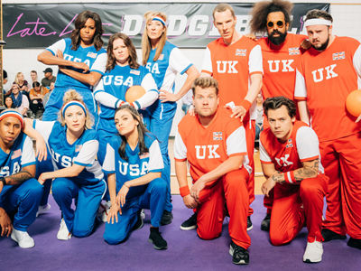 Michelle Obama Sets Up Dodgeball BEATDOWN, Pelts Harry Styles 'Right In the 1D'
