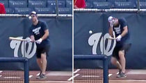 Max Scherzer Breaks His Nose Bunting In Batting Practice, Blood Everywhere!