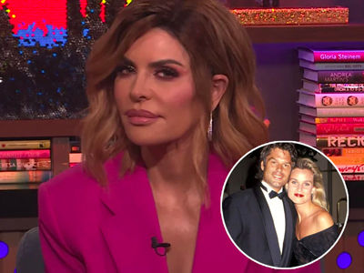 Lisa Rinna FLIPS OFF Nicollette Sheridan on 'WWHL' After Twitter War Over Harry Hamlin