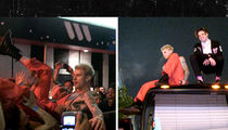 Machine Gun Kelly, Yungblud Jump on Tour Bus Roof, Perform Outside The Roxy