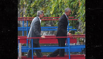Obama & Clooney Take a Boat Ride in Italian Lake