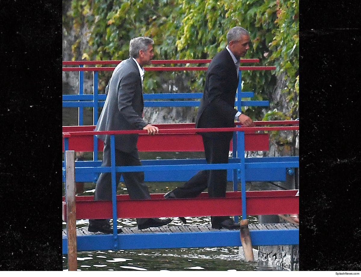 The Clooneys and the Obamas to arrive in Laglio 0623-george-clooney-obama-splash-4
