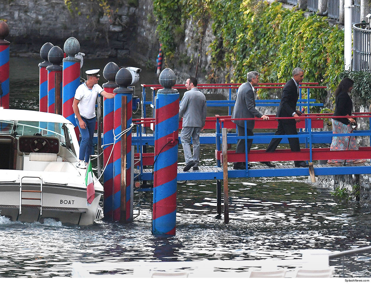 The Clooneys and the Obamas to arrive in Laglio 0623-george-clooney-obama-splash-7