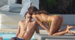 Model Izabel Goulart In Thong'd Out Makeout Sesh with Soccer Star Fiance