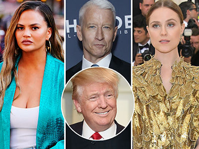Celebrities Including Chrissy Teigen TRASH Trump's 'She's Not My Type' Sexual Assault Denial