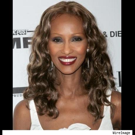 Iman's stunning beauty is ageless.  Born 1955.