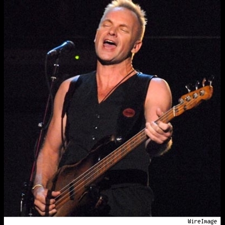 Sting, born in 1951, doesn't have to police his features.