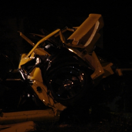 Nick Hogan's car wreck