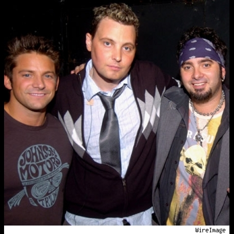 Just when you thought it was safe to turn on the radio... aging boy-banders Jeff Timmons, Rich Cronin and Chris Kirkpatrick are forming a new group.