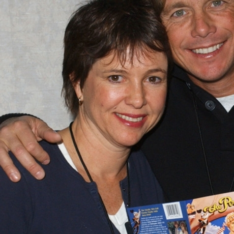 "The star resurfaced at some event with her ""Pirate Movie"" co-star Christopher Atkins, looking happy."