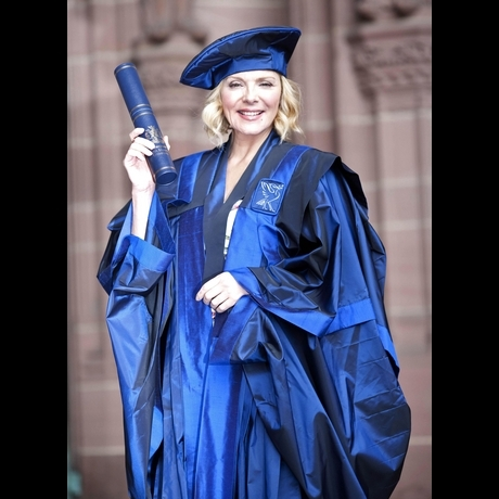 Kim Cattrall Gets Educated