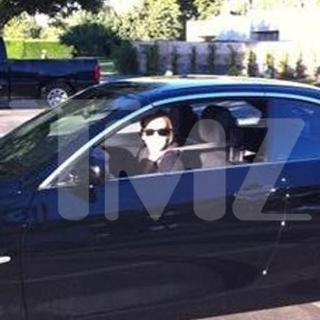 Lindsay Lohan BMW