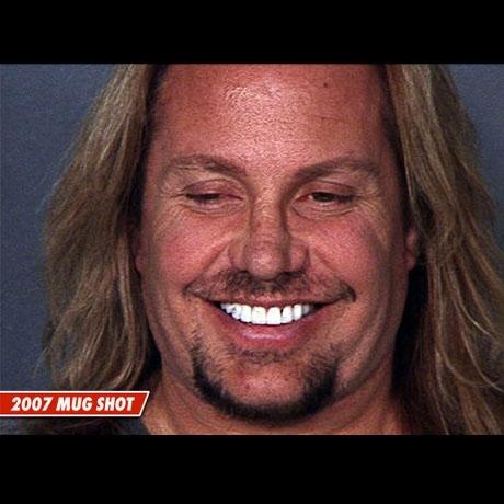 Take 1 - Vince Neil's mug after the arrest for DUI.