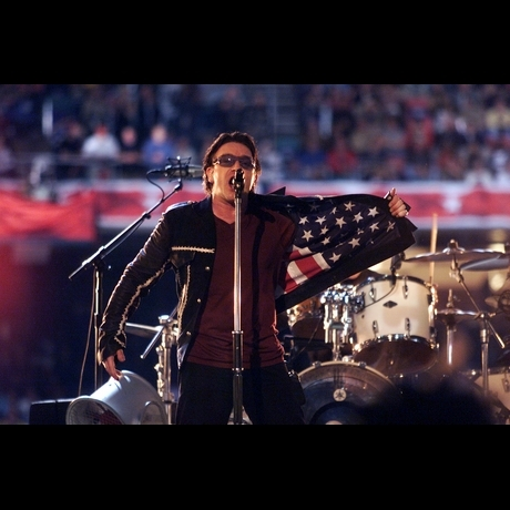 2002's halftime show by the band U2 was one of the most emotional performances to date.