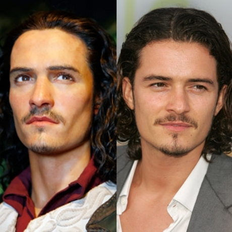 Orlando Bloom's features were recreated -- right down to the exact chin stubble.