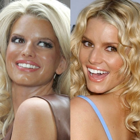 In both wax and real life, Jessica Simpson needs a little powder.