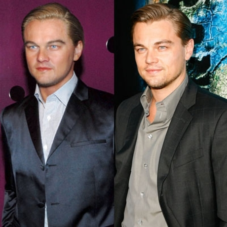 Leo DiCaprio -- he doesn't smile in wax either.