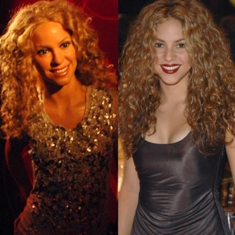 The waxen Shakira was not made to gyrate like the real one.