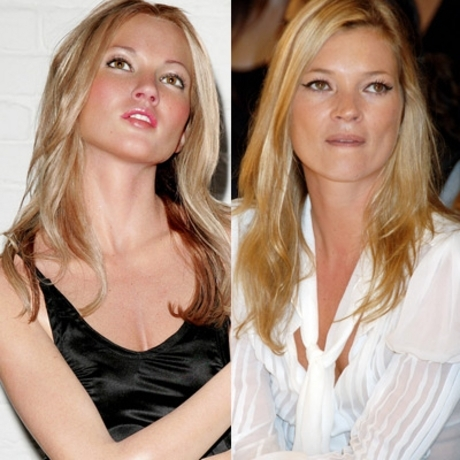 Kate Moss -- the waif in paraffin.