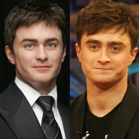 Daniel Radcliffe's post Potter look was immortalized with the same thin-lipped winsomeness.