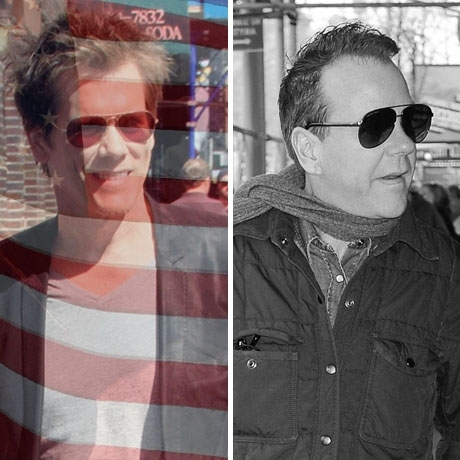 Kevin Bacon was born in the USA! Kiefer Sutherland was born in England.