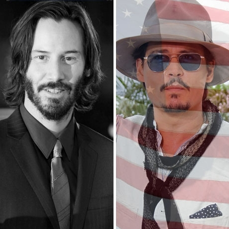 Keanu Reeves was born in Lebanon. Johnny Depp was born in the USA!