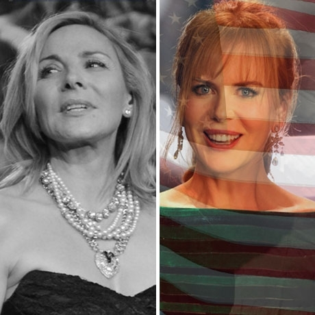Kim Cattrall was born in England! Nicole Kidman was born in the USA!